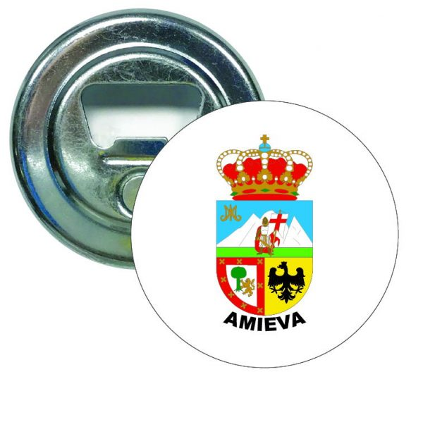 abridor redondo escudo heraldico amieva