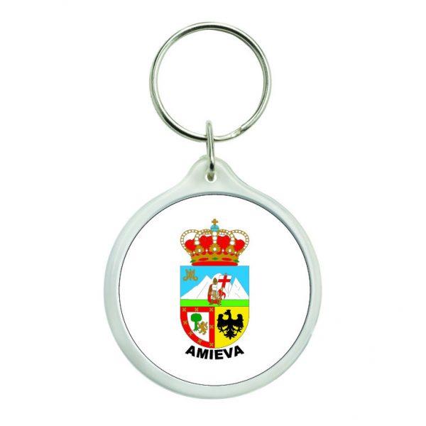 llavero redondo escudo heraldico amieva