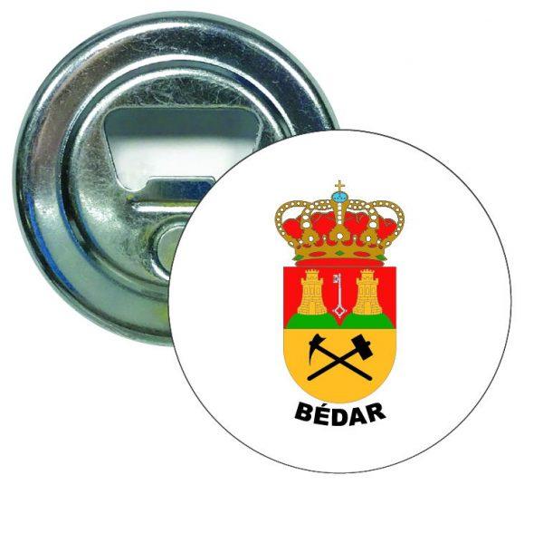 abridor redondo escudo heraldico bedar