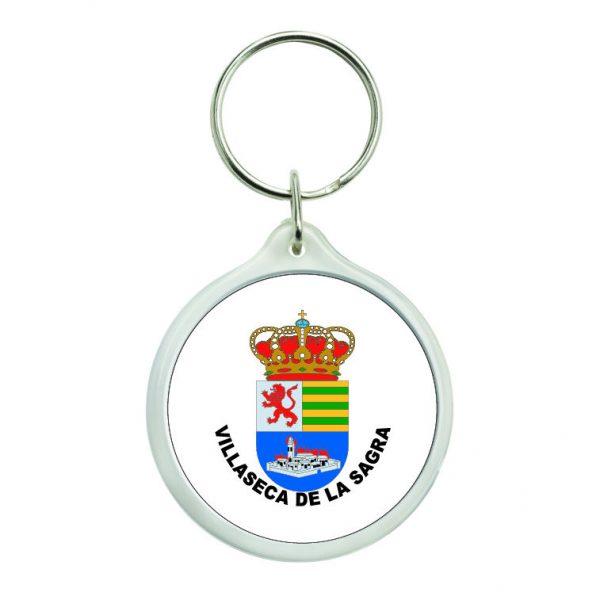 llavero redondo escudo heraldico villaseca de la sagra