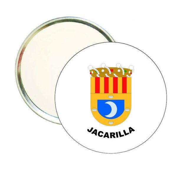 espejo redondo escudo heraldico jacarilla