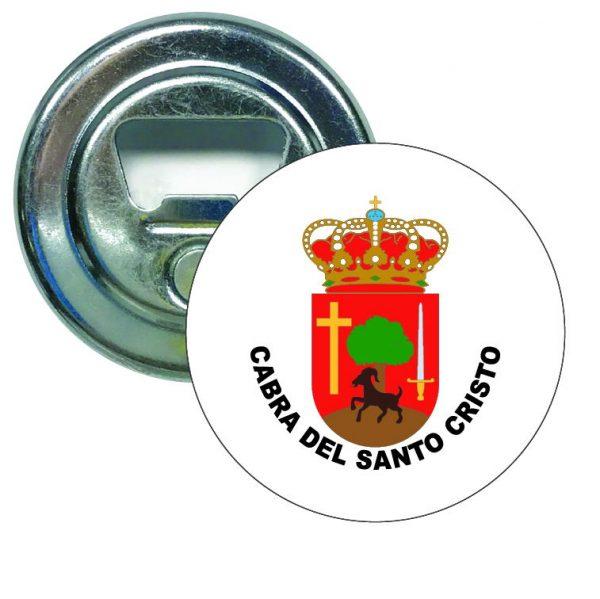 abridor redondo escudo heraldico cabra del santo cristo