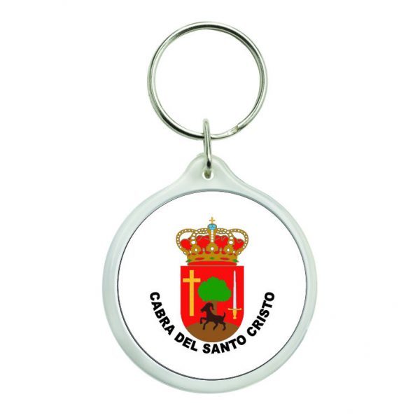 llavero redondo escudo heraldico cabra del santo cristo