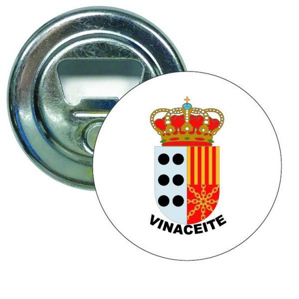abridor redondo escudo heraldico vinaceite
