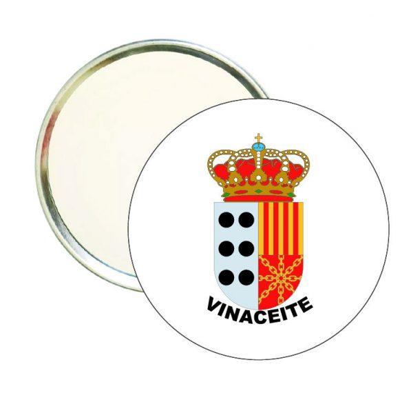 espejo redondo escudo heraldico vinaceite