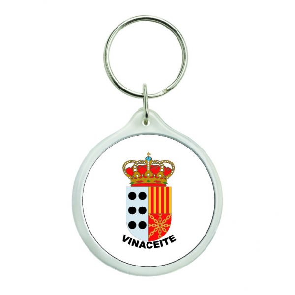 llavero redondo escudo heraldico vinaceite