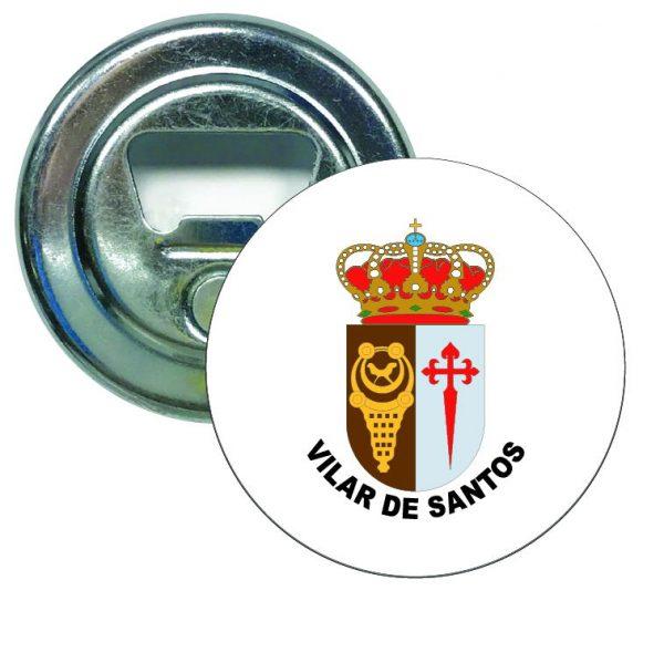 abridor redondo escudo heraldico vilar de santos