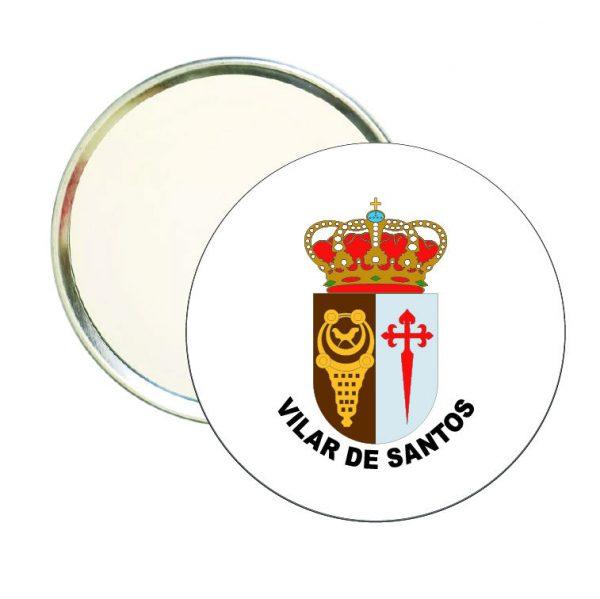 espejo redondo escudo heraldico vilar de santos