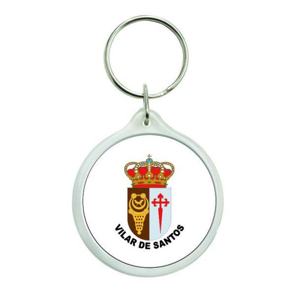 llavero redondo escudo heraldico vilar de santos