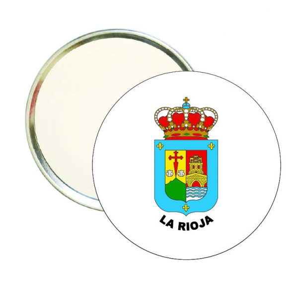 espejo redondo escudo heraldico la rioja