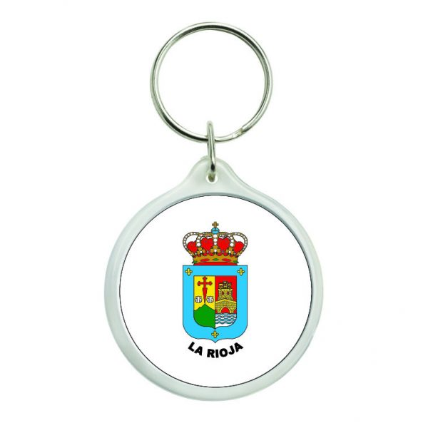 llavero redondo escudo heraldico la rioja