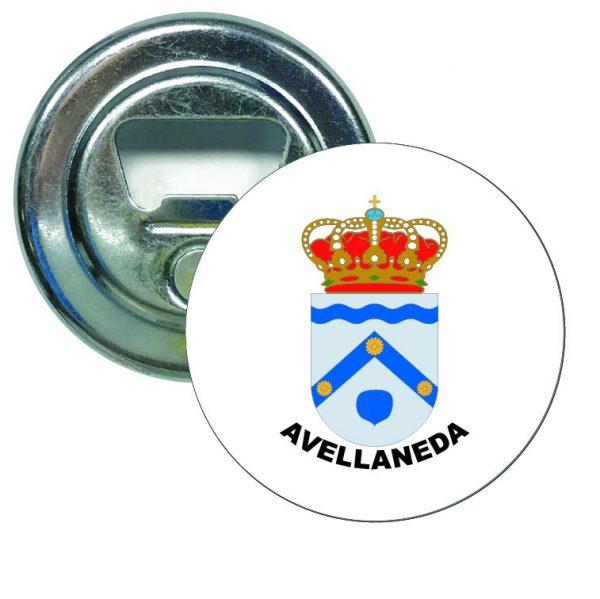 abridor redondo escudo heraldico avellaneda