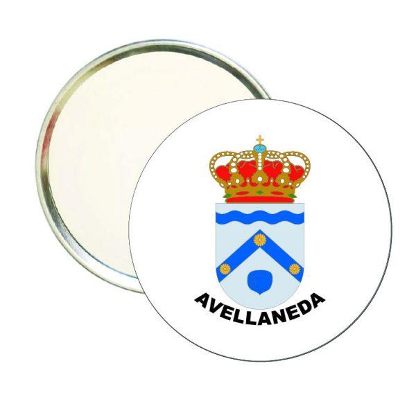 espejo redondo escudo heraldico avellaneda