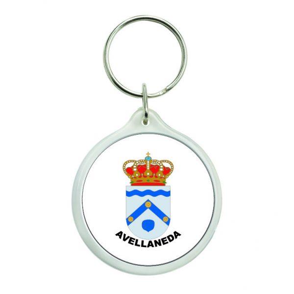 llavero redondo escudo heraldico avellaneda