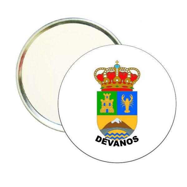 espejo redondo escudo heraldico devanos