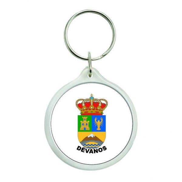 llavero redondo escudo heraldico devanos