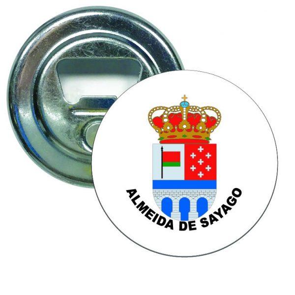 abridor redondo escudo heraldico almeida de sayago