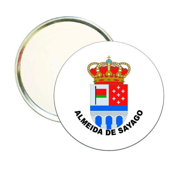 espejo redondo escudo heraldico almeida de sayago