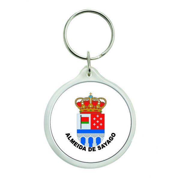 llavero redondo escudo heraldico almeida de sayago