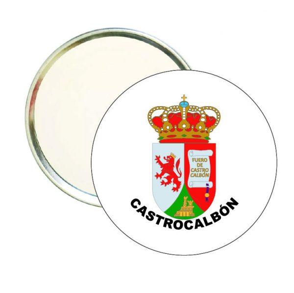 espejo redondo escudo heraldico castrocalbon