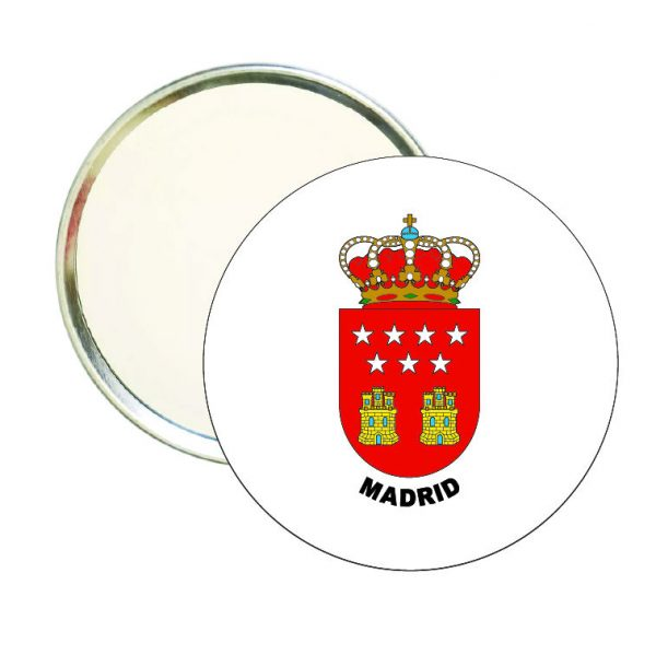 espejo redondo escudo heraldico madrid