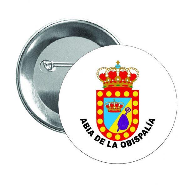chapa escudo heraldico abia de la obispalia