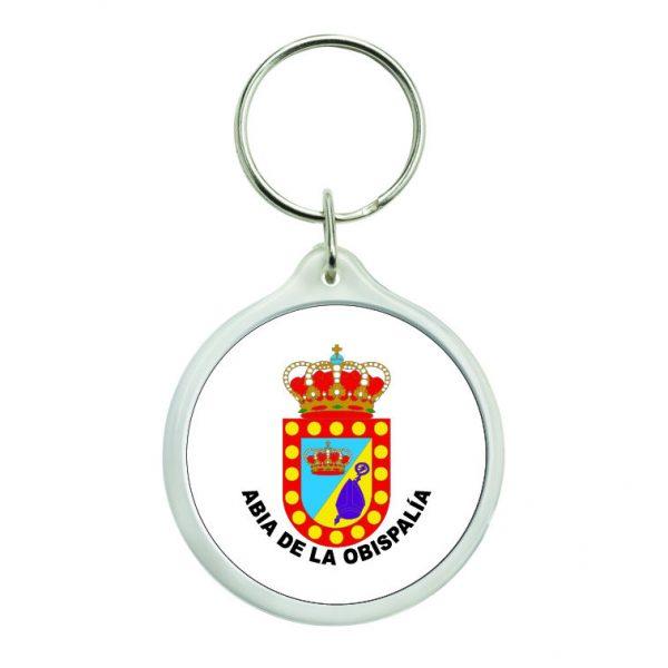 llavero redondo escudo heraldico abia de la obispalia