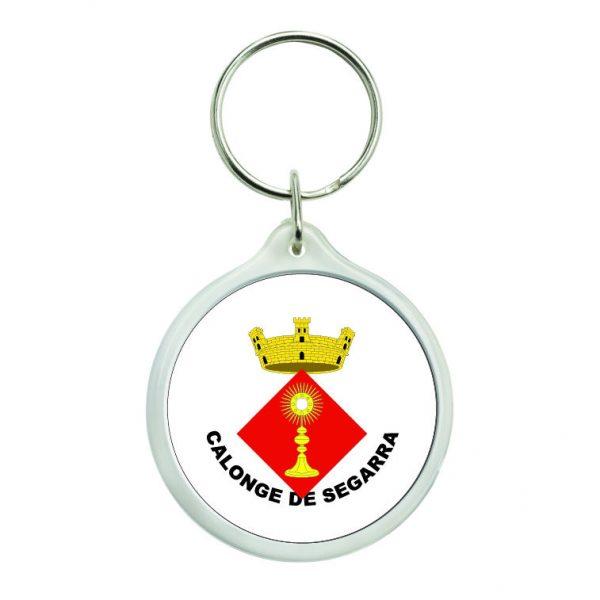 llavero redondo escudo heraldico calonge de segarra
