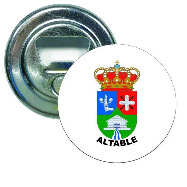 abridor redondo escudo heraldico altable