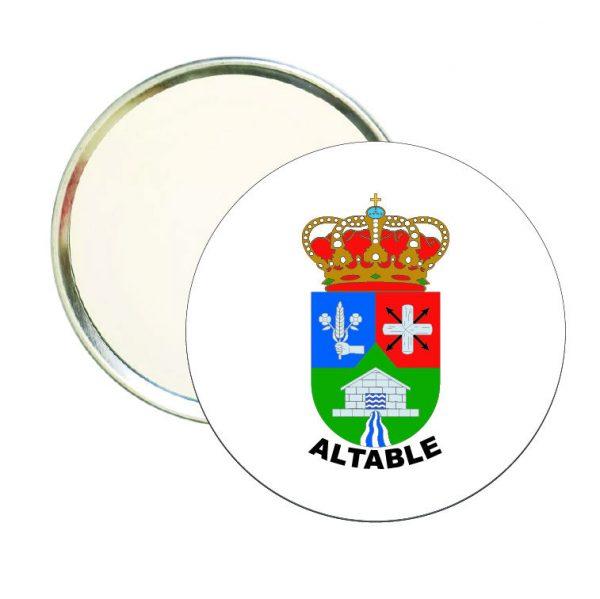 espejo redondo escudo heraldico altable