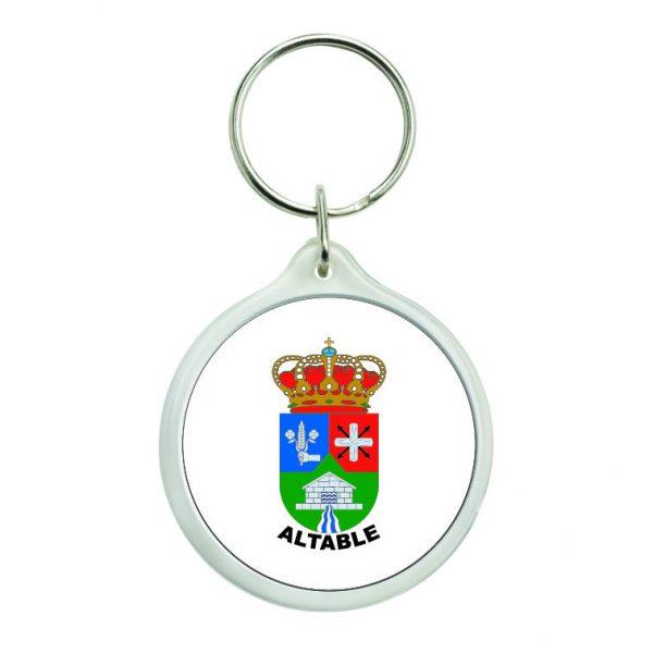 llavero redondo escudo heraldico altable