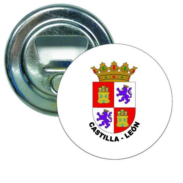 abridor redondo escudo heraldico castilla leon
