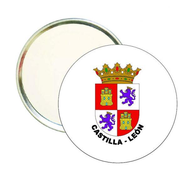 espejo redondo escudo heraldico castilla leon
