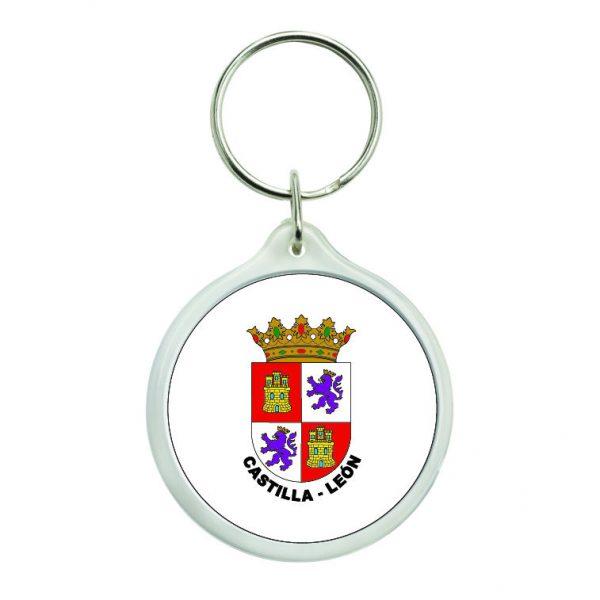 llavero redondo escudo heraldico castilla leon