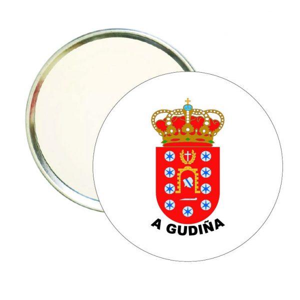 espejo redondo escudo heraldico a gudina