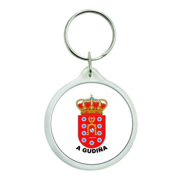 llavero redondo escudo heraldico a gudina