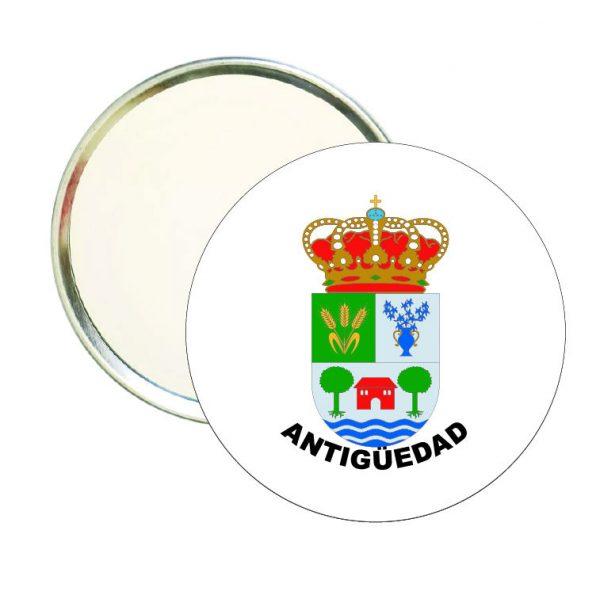 espejo redondo escudo heraldico antiguedad