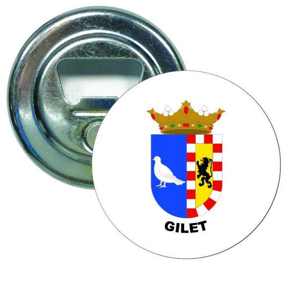 abridor redondo escudo heraldico gilet
