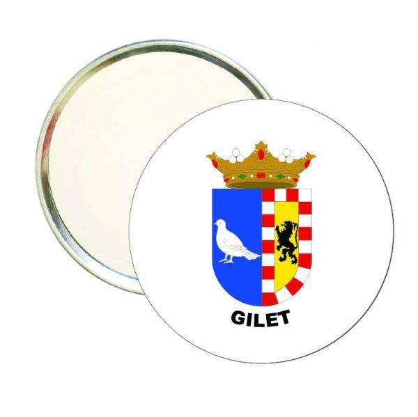 espejo redondo escudo heraldico gilet