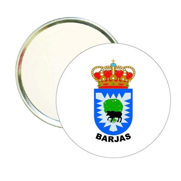espejo redondo escudo heraldico barjas