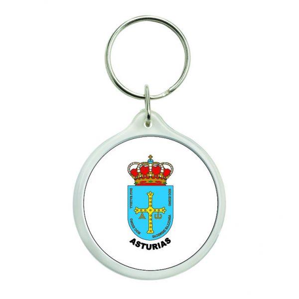 llavero redondo escudo heraldico asturias