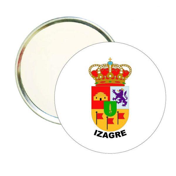 espejo redondo escudo heraldico izagre