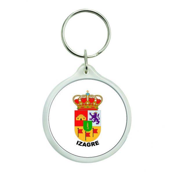 llavero redondo escudo heraldico izagre