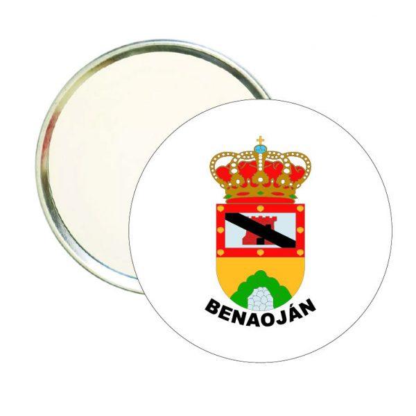 espejo redondo escudo heraldico benaojan