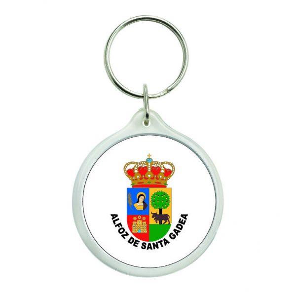 llavero redondo escudo heraldico alfoz de santa gadea