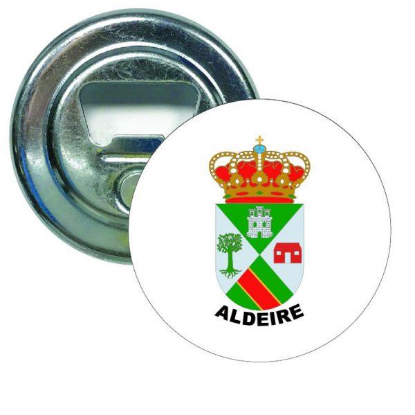abridor redondo escudo heraldico aldeire