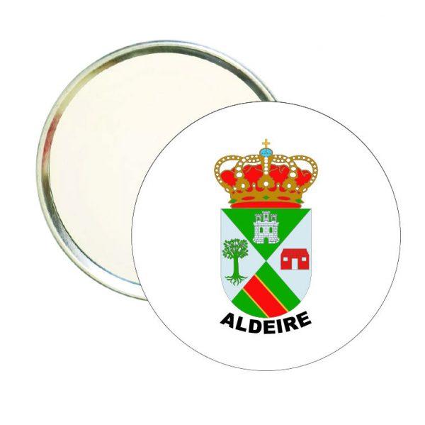 espejo redondo escudo heraldico aldeire