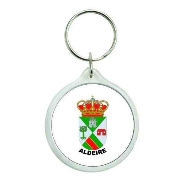 llavero redondo escudo heraldico aldeire
