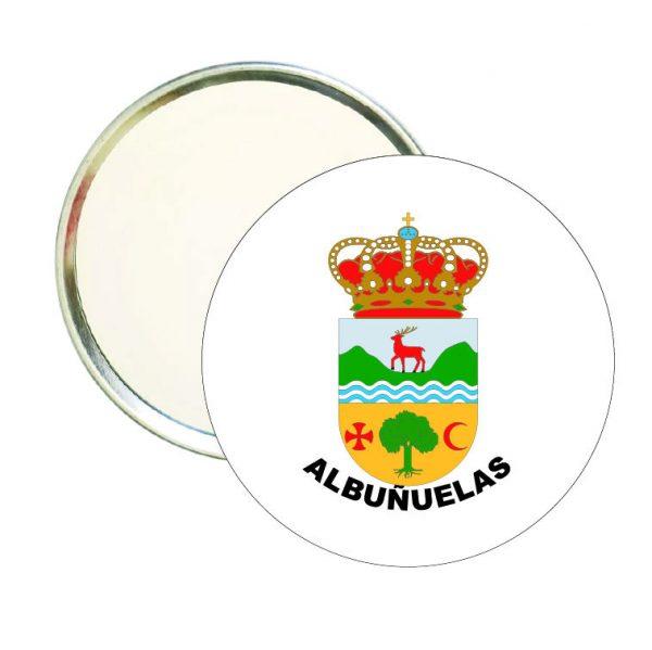 espejo redondo escudo heraldico albunuelas
