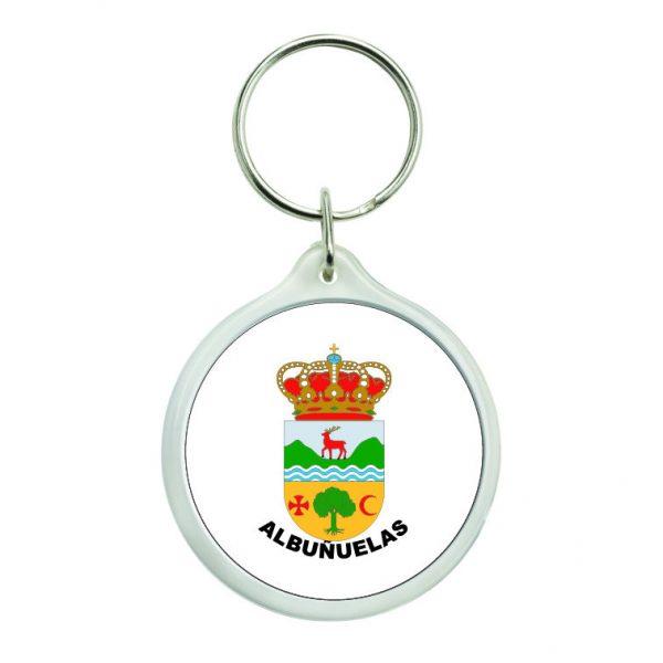 llavero redondo escudo heraldico albunuelas